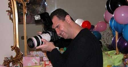 عکس های لو رفته از زندگی خصوصی بشار اسد
