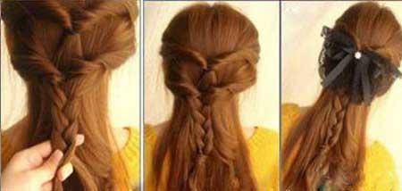 ساده ترین راه بستن مو ها در خانه (عکس)