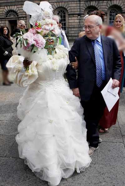 عروسی که با دیدن آن وحشت می کنید (عکس)
