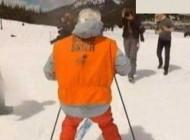 اسکی بازی جالب پیرزن 100 ساله