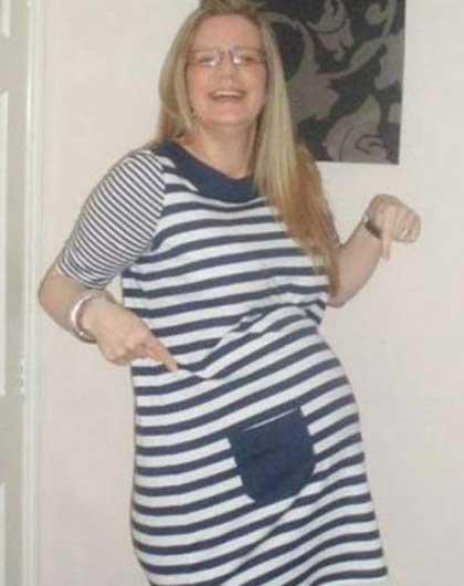 زنی که با همبرگر حامله شد (عکس)