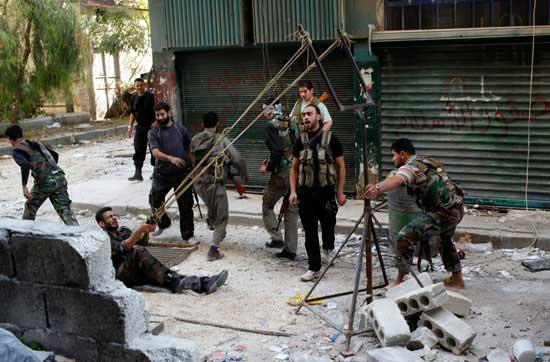 تصاویر جالب از تسلیحات ابداعی جدید سوری ها