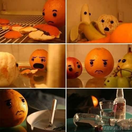 عکس جالب از خیانت در دنیای میوه ها برای شما عزیزان