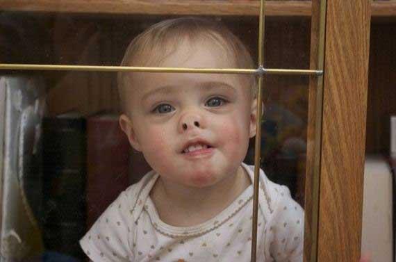 عکس های خنده دار از صورت های چسبیده به شیشه