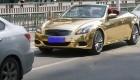 ماشین فوق العاده لوکس و طلایی در چین