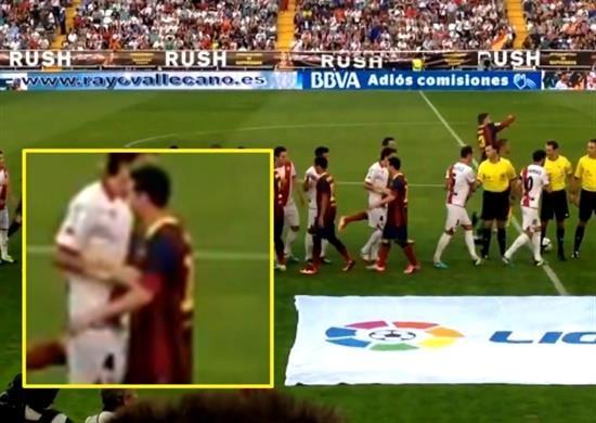 بازیکنی که حاضر نشد با مسی دست دهد (عکس)