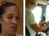 عاقبت اس ام اس بازی کردن راننده زن (عکس)
