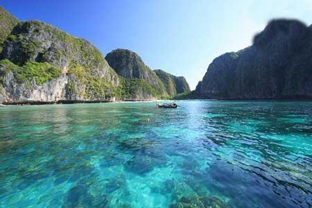 خلیج مایا تصویری از بهشت شگفت انگیز (عکس)