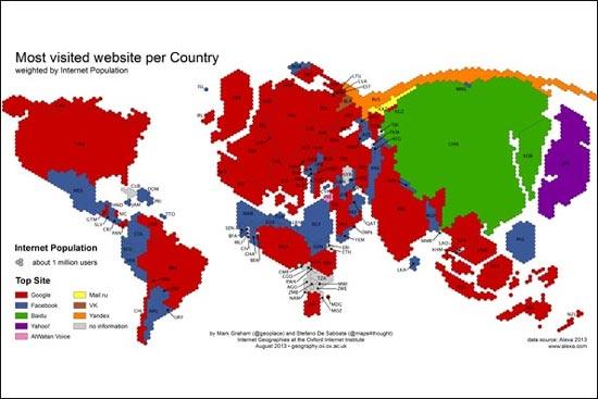 پربازدید ترین سایتها کدامند؟ (عکس)