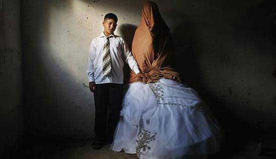 عکس هایی از مراسم عروسی عجیب