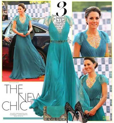 لباس شب را مانند Kate Middleton ست کنید