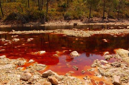 رودخانه خونی در اسپانیا (عکس)