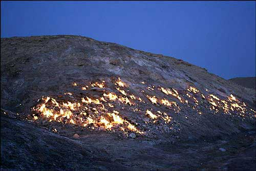 کوهی در ایران که خودسوزی می کند (عکس)