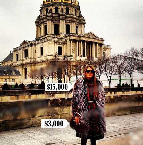 زنی که دیوانه مد و مد گرایی شده (عکس)