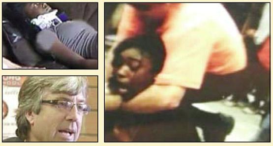 معلم وحشی در حال حمله به دانش آموز 15 ساله (عکس)