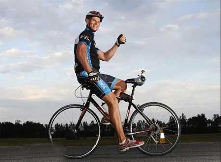رکورد زنی دیده نشده با دوچرخه (عکس)