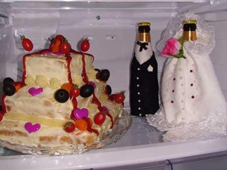 عکس هایی از مدل تزیین یخچال عروس