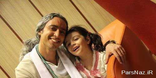 عکس دیده نشده از مازیار فلاحی و دخترش بدون حجاب