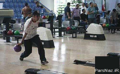 بولینگ بازی سه فرد مشهور ورزش دوست (عکس)