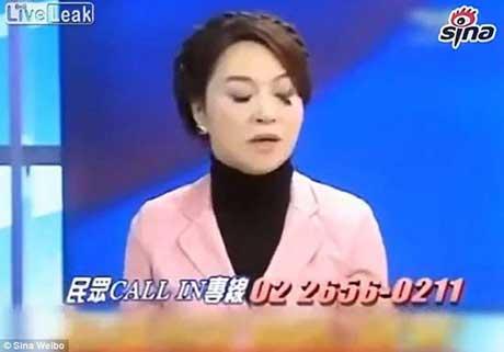 سوتی وحشتناک خانم مجری در برنامه زنده (عکس)