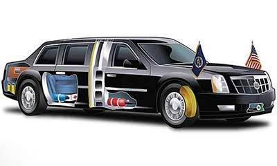 عکس جنجالی ماشین تشریفاتی اوباما