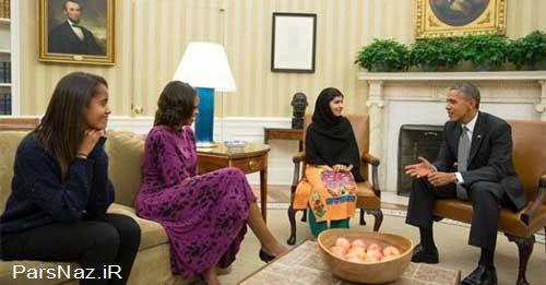 دختر پاکستانی به دیدار خانواده اوباما رفت (عکس)