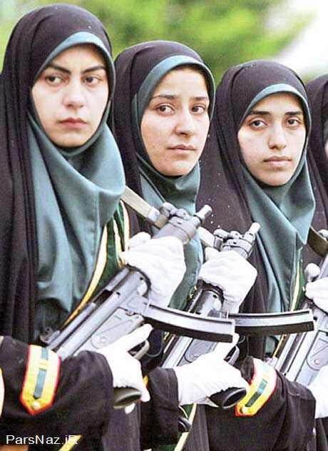 عکس جنجالی زن منتخب یگان ویژه کشور