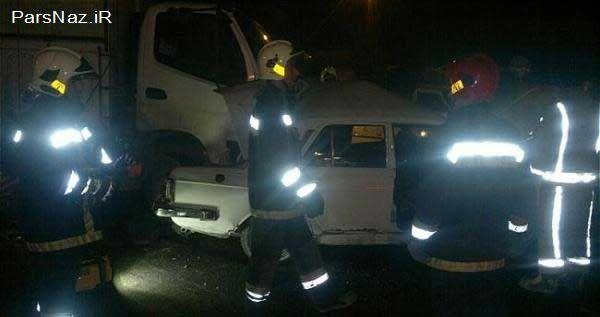 مرگ ناراحت کننده و دلخراش راننده پیکان (18+)