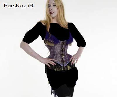 دختری که با سایز کمرش مشهور شد (عکس)