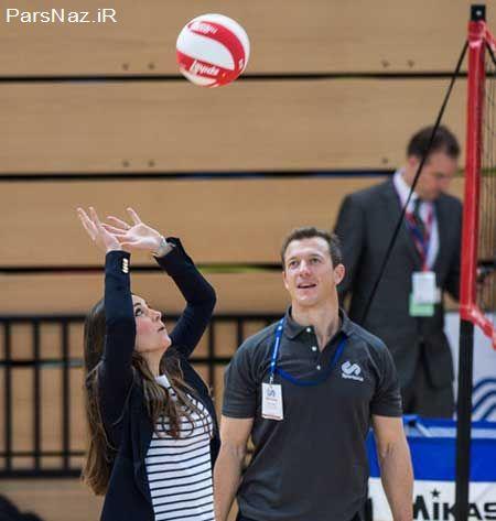 والیبال بازی دیدنی کیت میدلتون (عکس)