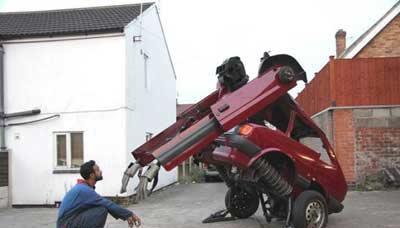 خودرو فرسوده ای که ربات می شود (عکس)