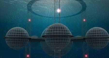شهری زنده در زیر اقیانوسها (عکس)