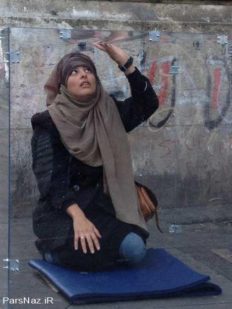 زندانی شدن زن محجبه در زندان شیشه ای فرانسه (عکس)