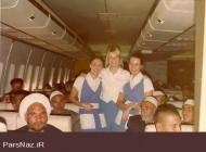 حضور تعجب آور مهمانداران بی حجاب در پرواز حجاج ایرانی