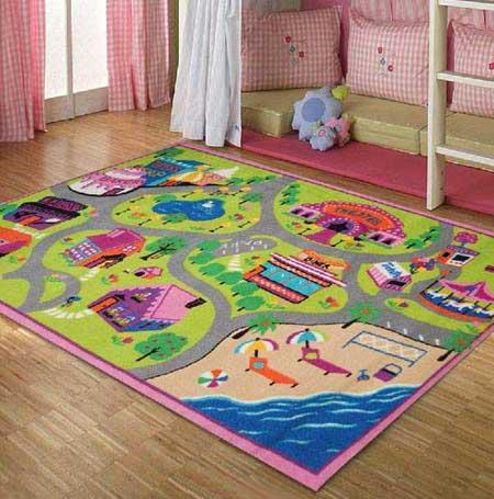 طرح های جدید از فرش اتاق کودک