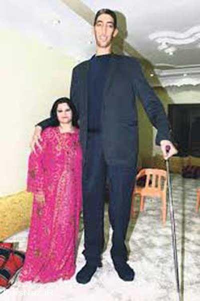 مراسم حنا بندان بلند قد ترین مرد دنیا (عکس)
