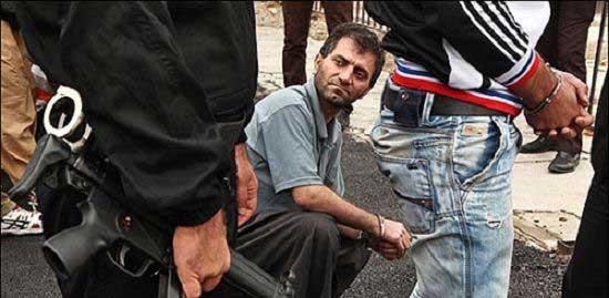 تصاویر 18+ بازداشت اراذل و اوباش تهران
