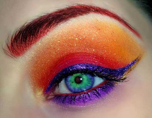 عکسهایی از آرایش چشم و ابرو به صورت نقاشی