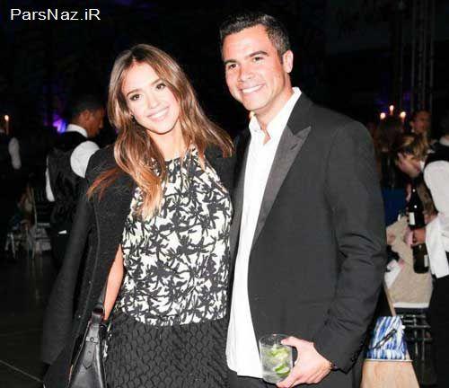 جسیکا آلبا و شوهرش در مهمانی شام کمپانی KENZO