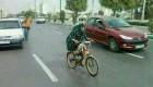 عکس لو رفته از دوچرخه سواری زنی در مازنداران