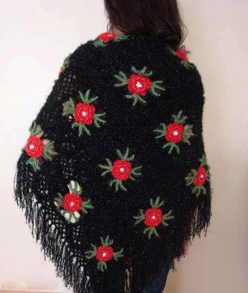 روسری های بافتنی و قلاب بافی  (عکس)