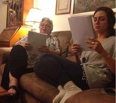 عکس خانوادگی حوا در سریال شمیم عشق