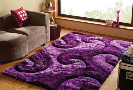 فرش های پرزدار و با طراحی شیک