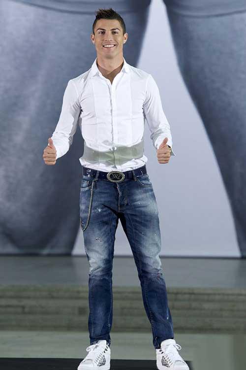کریس رونالدو در مراسم تبلیغ لباس زیر مردانه