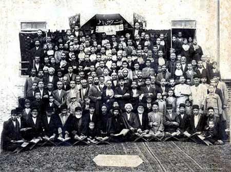تصاویر زیبای هیئت های قدیمی عزاداری