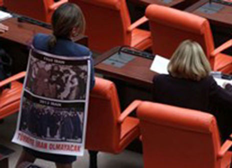 عکس نماینده مجلس ترکیه از حجاب زنان ایرانی!!