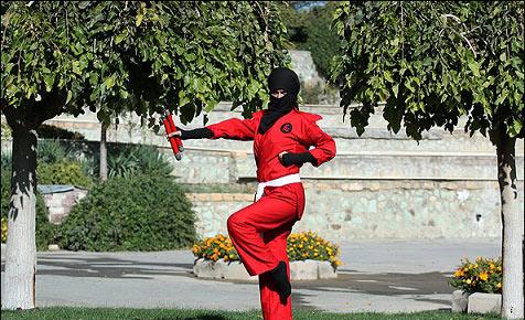 عکس های پر انرژی از دختران نینجا کار ایرانی