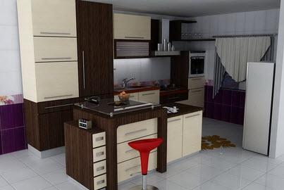 عکس های زیبا از دکوراسیون کابینت آشپزخانه