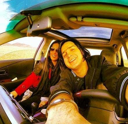 عکس جالب از محسن یگانه و همسرش
