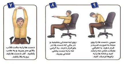 آموزش حرکات تصویری ورزشی برای کارمندان